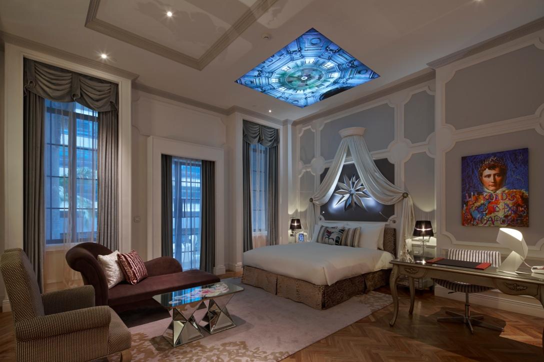 Este es el cuarto So Lofty, del hotel Sofitel Singapur.